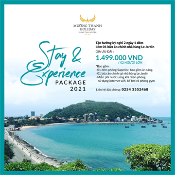 STAY & EXPERIENCE PACKAGE 2021